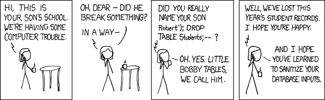 How to avoid sql server attacks in a funny way.